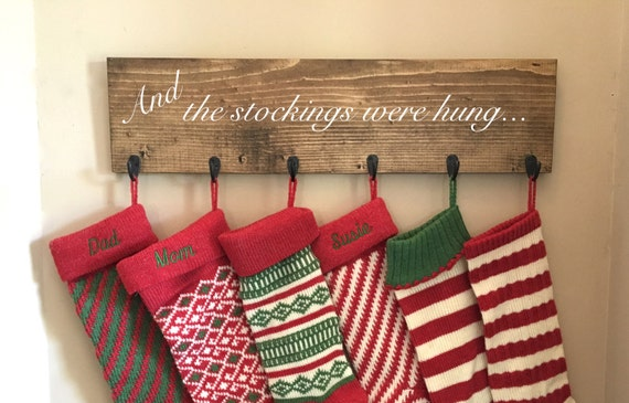 Christmas Stocking Hanger.Items Similar To Family Stocking Holder Christmas Stocking