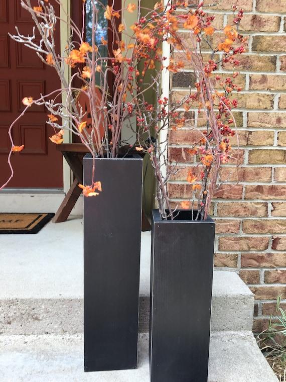 Large Vases Wooden Reclaimed Wood Rustic Vases Floor Etsy