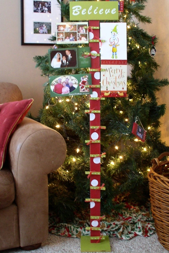 Christmas card holder card display merry mail holder card | Etsy
