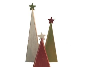 Wooden trees, Christmas trees, wood Christmas trees, tree shelf sitters, primitive trees, Christmas decor, holiday trees, rustic Christmas