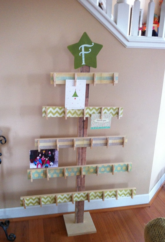 Items Similar To Tree Card Holder 4ft Card Holder Rustic Christmas