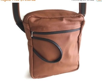 SALE Reduced To Clear Mens Leather Crossbody Bag Leather Shoulder Bag Mens  Leather bag Sac Bandouliere Cuir Gift For Him Gift For Dad a862a010f7