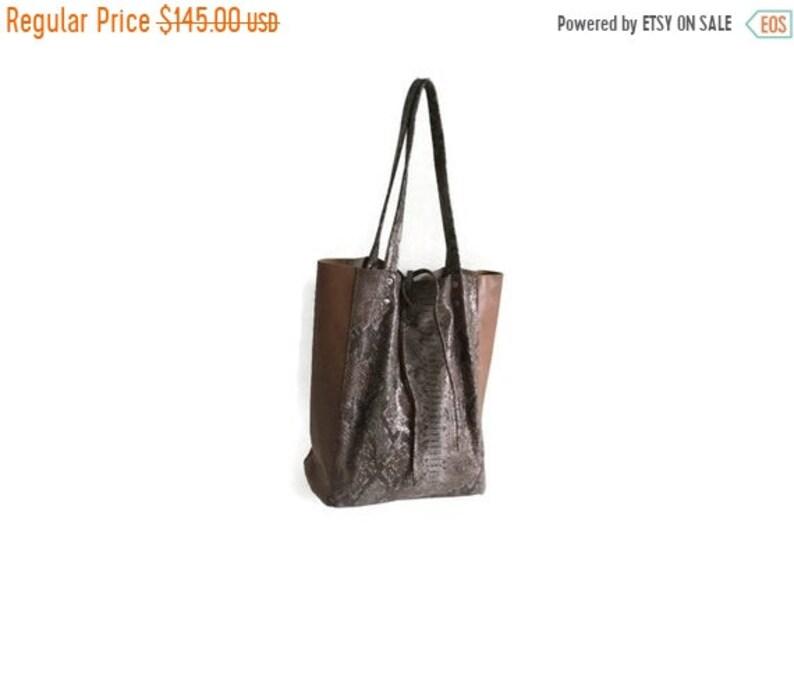 a522fa878 SALE Leather Tote Bag, Leather Book Bag, Leather Shopper