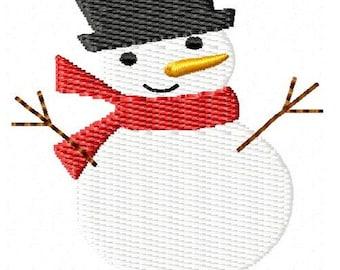 Christmas Snowman Machine Embroidery Design Mini