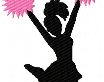 Cheerleader 2 Mini Machine Embroidery Design