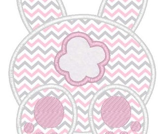 Easter Bunny Tail Machine Embroidery Applique Design
