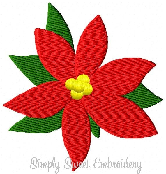 Conception Mini de broderie Machine fleur poinsettia