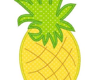 Pineapple Machine Embroidery Applique Design