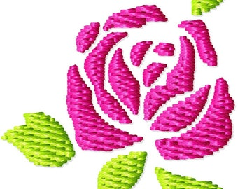 Rose Machine Embroidery Mini Design