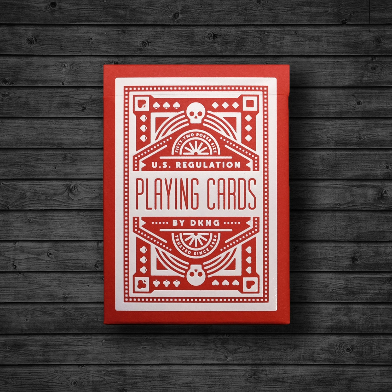 DKNG \'Red Wheel\' Playing Cards | Etsy