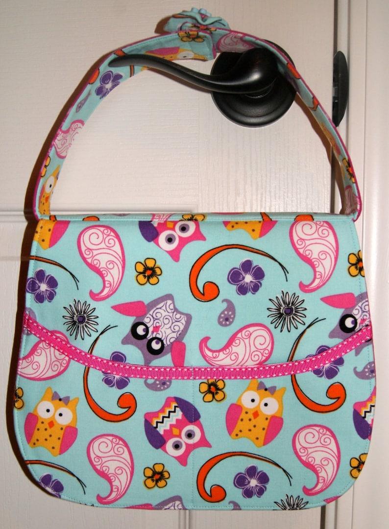 Pouch Barrettes Hair Clip Organizer Owl Bag Girl Gift Hair image 0