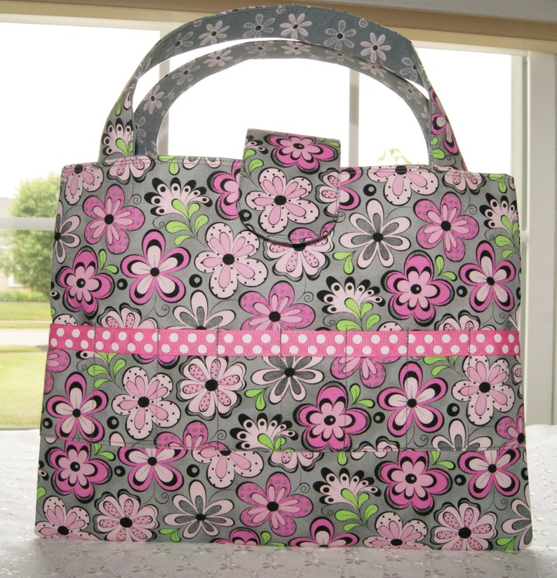Coloring Supplies Storage Bag  Child Travel Activity Tote  image 0