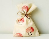WOODLAND Party Favour Bags - Woodland/toadstool/mushroom theme, Woodland treat bag, woodland favour bag x 10