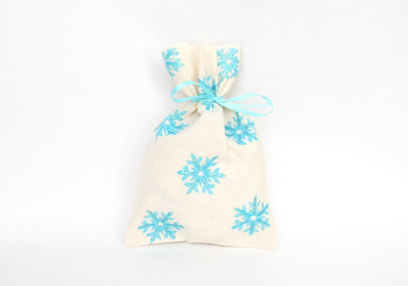 SNOW FLAKE Party Bags  Snow flake lolly bags snow loot bags image 0