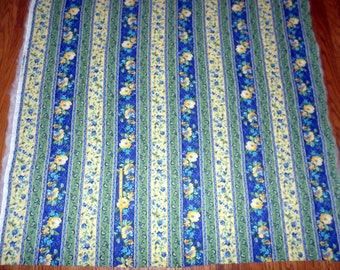 New Blue Pre - quilted - Single-faced Prequilted Cotton Fabric - by the yard