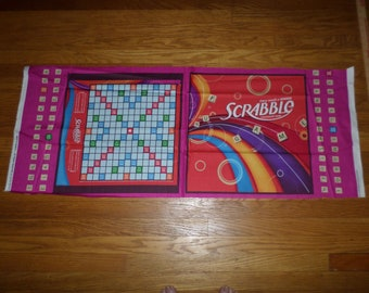 New ** Scrabble Game Board ** Unfinished COTTON Fabric Pillow Panel - selvage dated 2010 - BOLT END