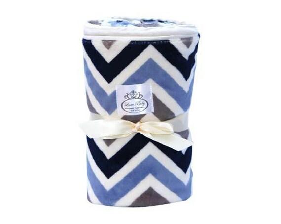 Plush Velboa Luxe Baby Blanket Chevron - Baby Blanket, Baby Boy Blanket, Baby Girl Blanket, Baby Gift, Baby Care, Baby Shower Gift