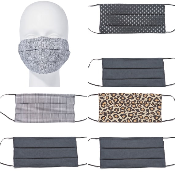 Face Mask Cover with Filter Pocket (2 pk.) | Washable Cotton Face Mask | Unisex Prints| Reusable Mask for Adult, Men, Women
