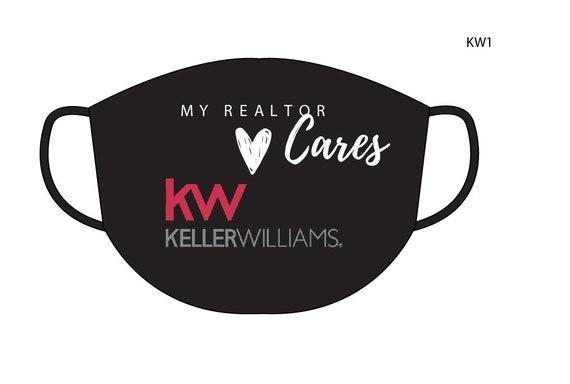 REALTOR Face Masks-Keller Williams | Washable Cotton Face Mask | Reusable Mask for Adult, Men, Women | Handmade in USA
