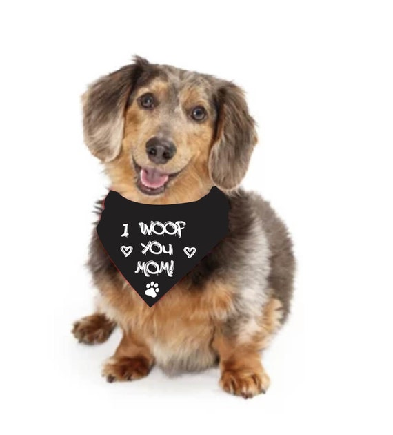 Dog Mothers Day Bandana , Dog Lover Gift, Dog Bandana, Free Customization,  Bandana Triangle Scarf for Dog