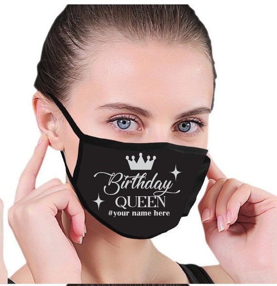 Birthday Queen Face Mask, Birthday Squad| Pocket for filter| Mask for Adult, Women