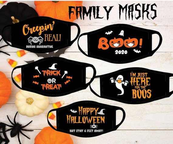 Face Mask for Trick or trick | Halloween Family and Adult Face Mask | Halloween Party Face Mask | Soft and Reversible