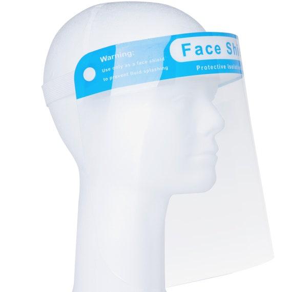 Clear Face Shield Visor | Full Face Clear Visor Shield with Head Band | Clear Transparent Face Visor | Anti-Fog Face Shield Visor