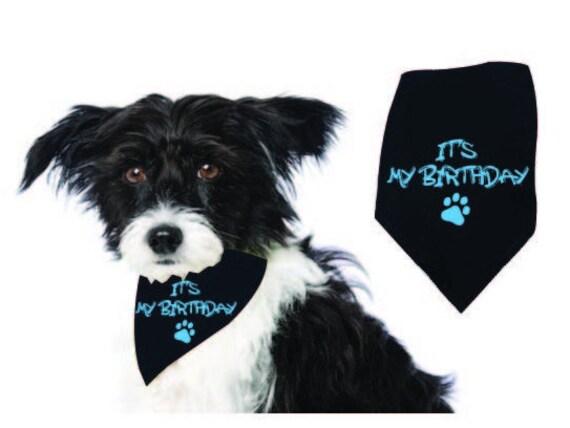 Dog Birthday Boy Bandana, It's My Birthday Plaid Dog Puppy Birthday Bandana Triangle Scarf for Dog Birthday Party supply