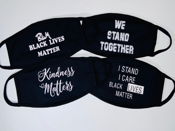 I CAN'T BREATHE | Black lives matter | We stand together Quote Face Mask| Washable Cotton Face Mask | Reusable Mask for Adult, Men, Women