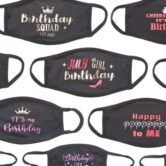 Birthday Masks, Quarantined Mask, Happy Birthday Masks, My Birthday Mask, Cheers & Beers Masks, Stay Away Party Mask, Birthday Squad Masks