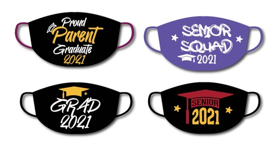 GRADUATION Face Masks | Graffitti Style Font | Washable Cotton Face Mask | Reusable Mask for Adult, Men, Women | Handmade in USA