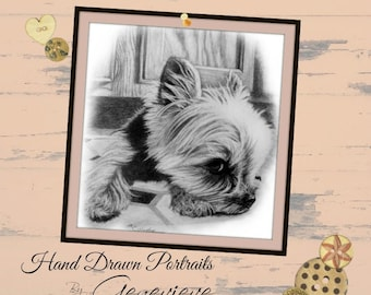 Pet Portrait Custom Pet Portrait Pet Memorial Gifts for Her Gift for Men