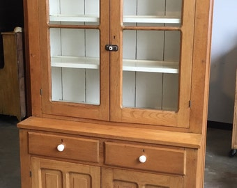 c9db817e1f3fb Exquisite Antique American Stepback Cupboard Cabinet 1 Piece  48w43w39h90h21d15d Shipping is Not free