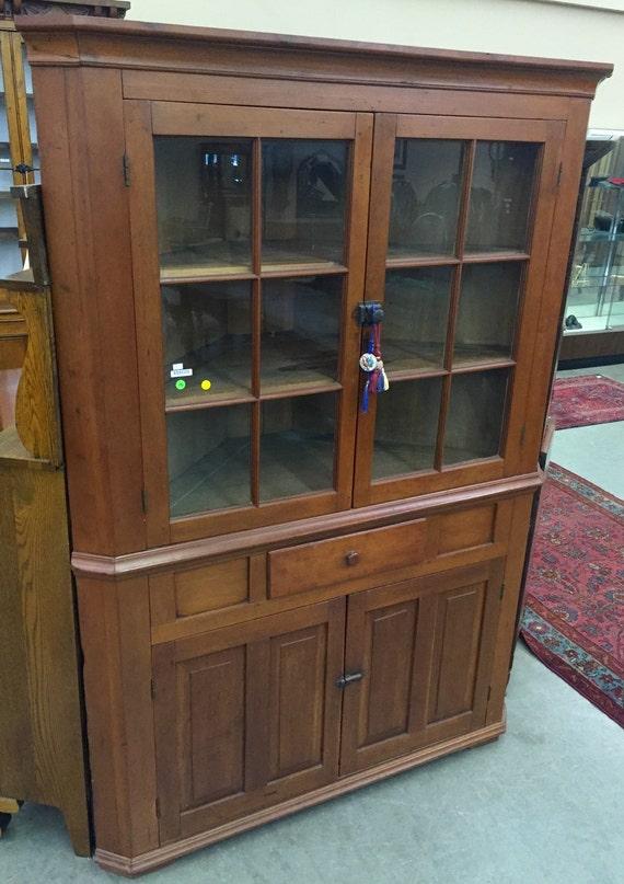 image 0 - Antique American Cherry Corner Cabinet Mid 1800's Etsy