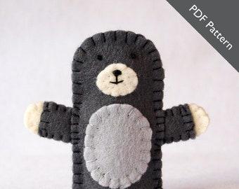Pattern, mole pattern, mole felt finger puppet pattern, mole sewing pattern, mole, diy, mole diy, felt sewing pattern, mole finger puppet