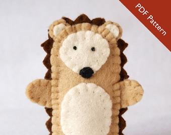 Pattern, hedgehog, hedgehog felt finger puppet pattern, hedgehog pattern, hedgehog finger puppet, felt finger puppet pattern, diy,