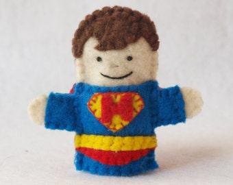 Caped Superhero Finger Puppet, Felt Finger Puppet, Custom Finger Puppet, Caped Superhero, Finger Puppet, Superhero Puppet