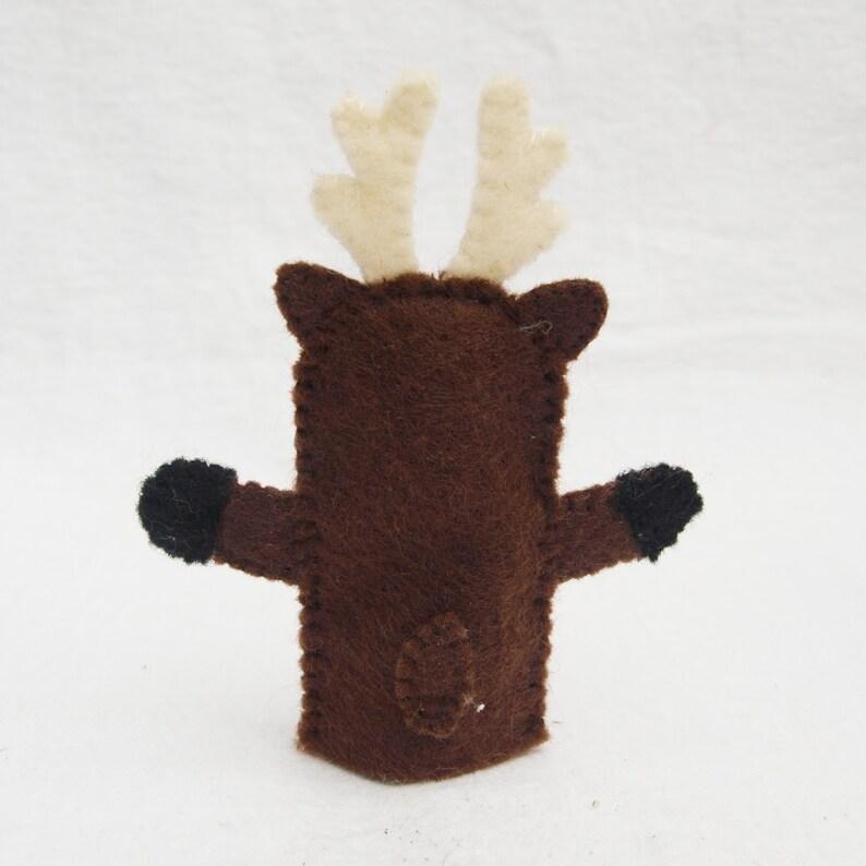 Deer storytime puppet felt finger puppet animal puppet