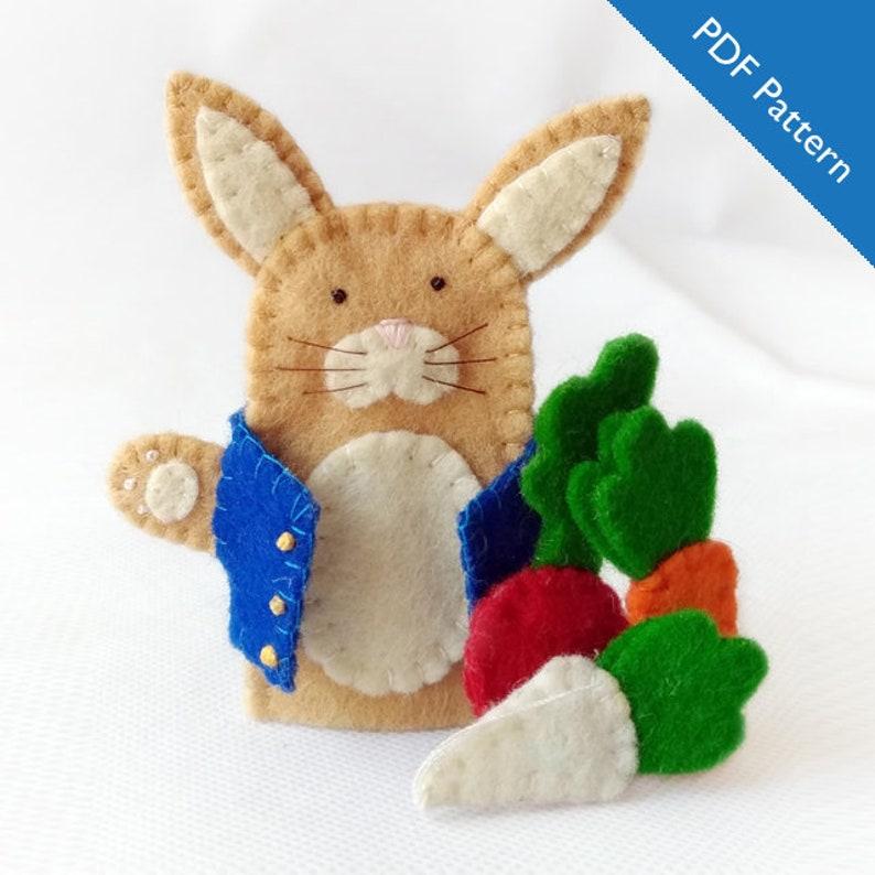 Pattern Peter Rabbit Felt Finger Puppet Pattern Peter Etsy