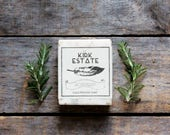 Rosemary, large bar soap, cold process soap, artisan soap, all natural soap, lightly scented, vegan soap, herbal soap, homemade soap, spa