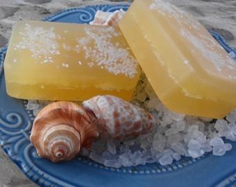 Patchouli and Sandalwood Sea Salt Soap - Glycerin Soap - Handmade Soap - Hippie Soap - Patchouli Soap - Sea Salt Soap - SoapGarden