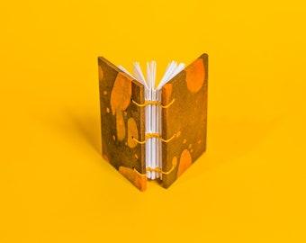 Tiny Volcano Journal | Freeform Marble, Coptic Stitch