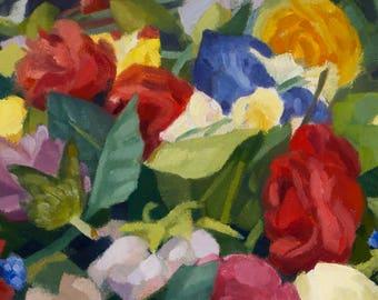 Flower Pile - Original Painting