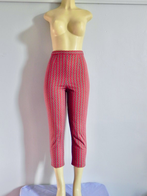 Vintage 50s Red Cigarette Pants - Rockabilly Diamo
