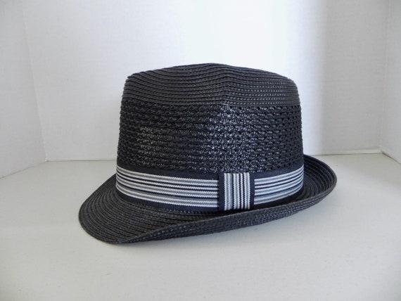 Vintage Mens Hat 60s style Hat Pork Pie Straw Fedo
