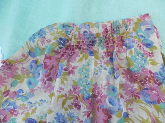 Vintage 30s Dress with Lovely Deco Flowers and pu… - image 5