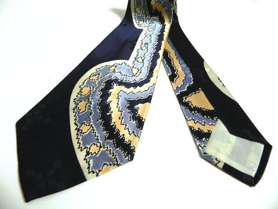 Vintage 1940s Tie - 40s Mens Wide and Wild Silk Ti