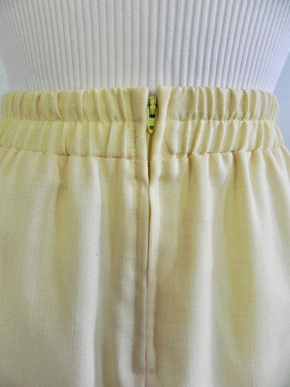 Vintage Butter Yellow Wiggle Skirt , Pinup Pencil… - image 7