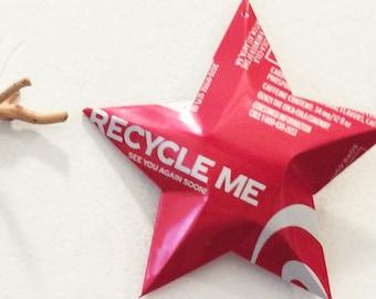 Coke Recycle Me Ornamental Stars, Christmas Ornaments    Coca Cola