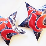 Royal Crown RC Cola Stars Christmas Ornaments Soda Can Upcycled Repurposed